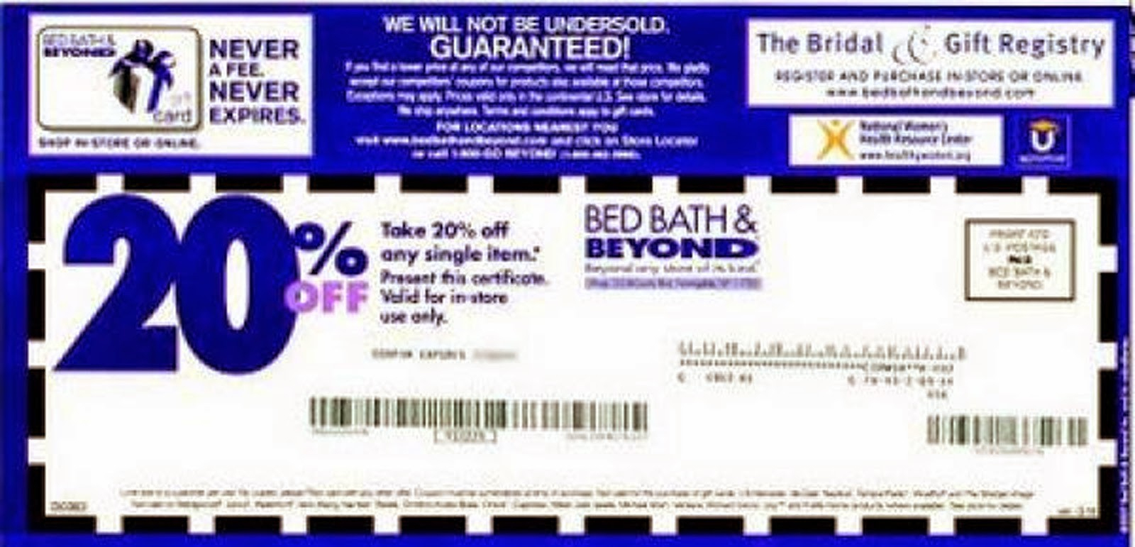 Bed Bath And Beyond Coupons 20 Off Printable Coupon - Mysembalun - Free Printable Bed Bath And Beyond Coupon 2019