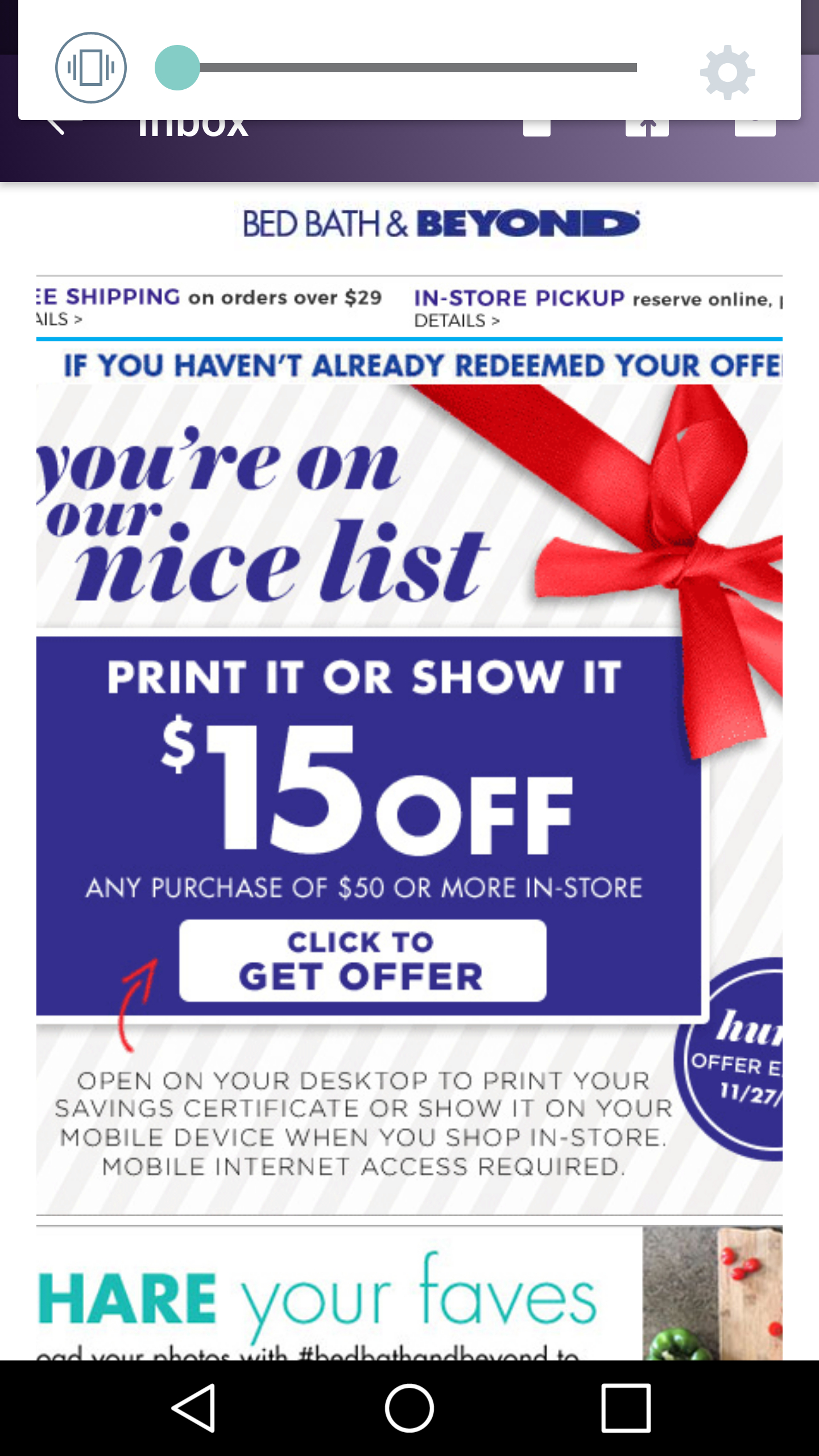 Bed Bath & Beyond $15 Off $50 Purchase Coupon (Check Email) - Hip2Save - Free Printable Bed Bath And Beyond Coupon 2019