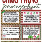 Best Ever Christmas Scavenger Hunt   Play Party Plan   Free Printable Treasure Hunt Games