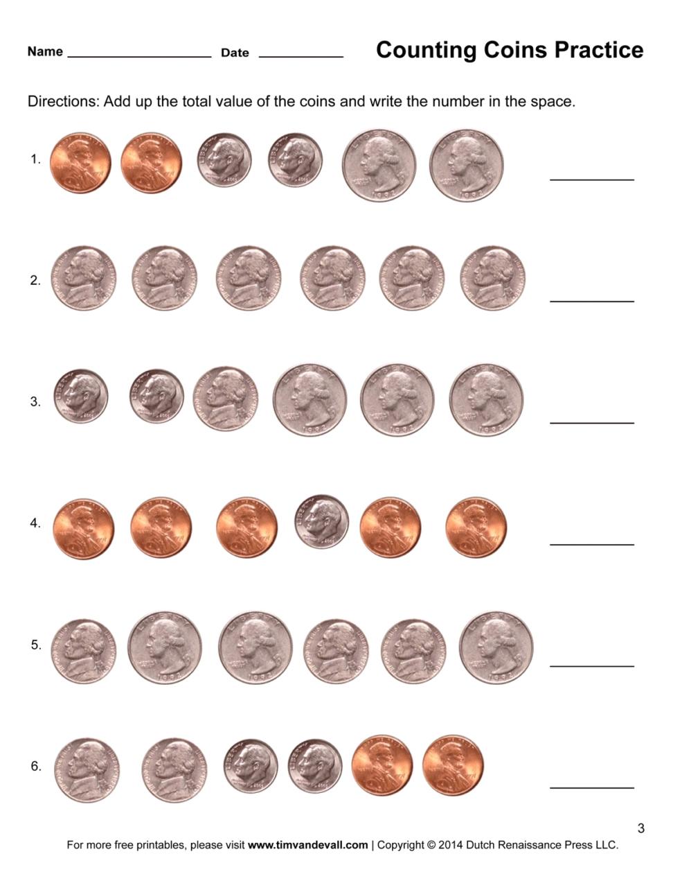 Best Of Printable Money Worksheets First Grade   Fun Worksheet - Free Printable Money Worksheets For 1St Grade