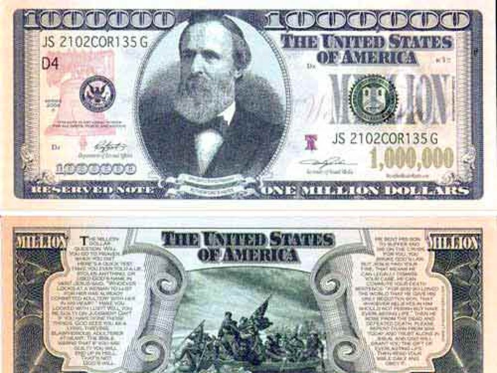 Best Photos Of A Million Dollar Bill Print - Printable Fake One For - Free Printable Million Dollar Bill
