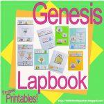 Bible Fun For Kids: Genesis Lapbook & Cut & Glue Student Worksheets   Free Printable Bible Study Lessons Genesis