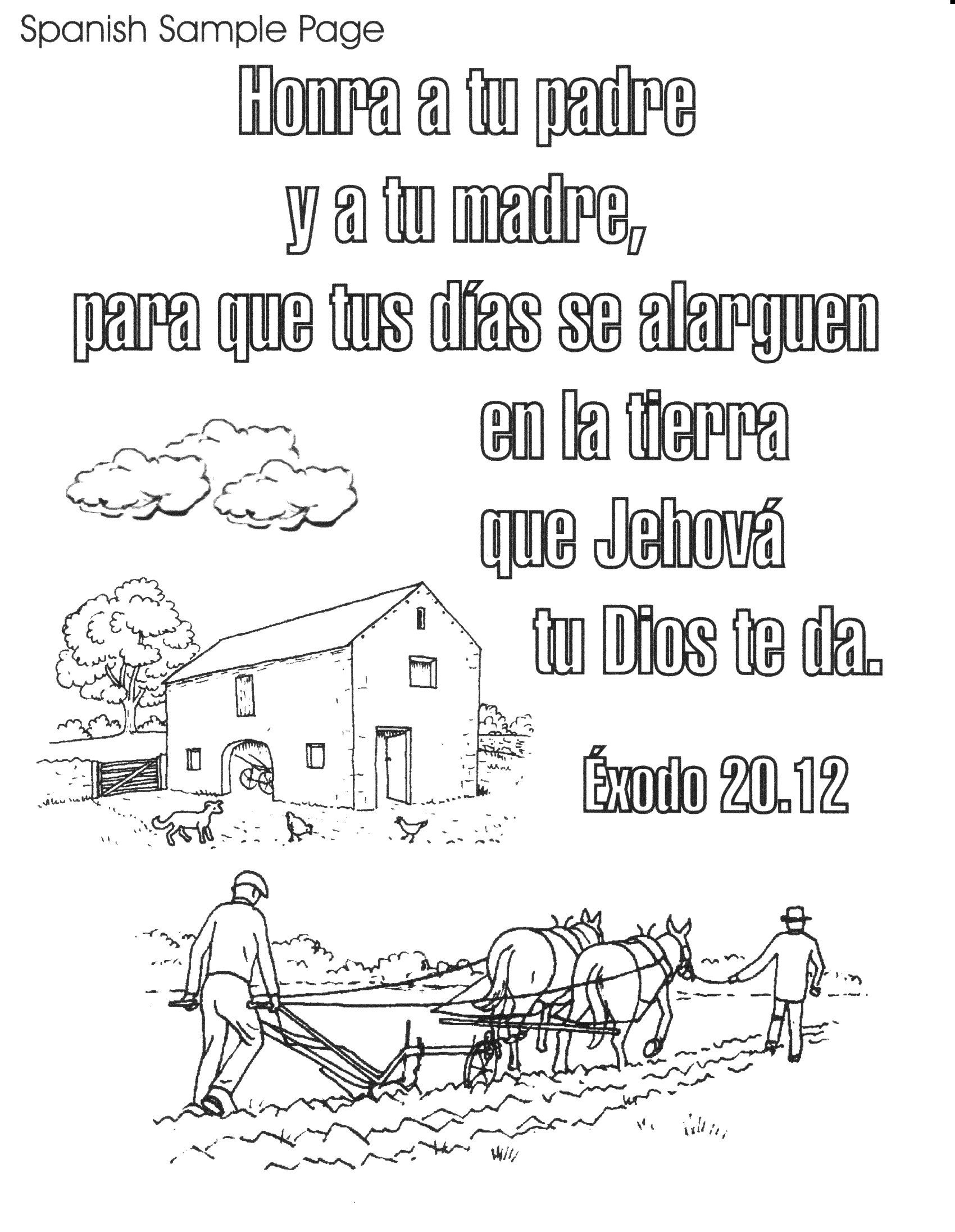 Bible Spanish Coloring Pages Free Printable   Spanish Bible Verse - Free Printable Spanish Books
