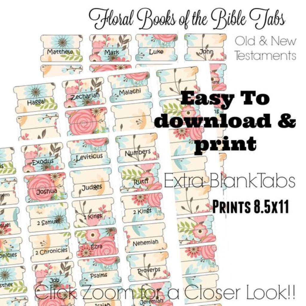 Bible Tabs Printable Bible Tabs Bible Journaling Tabs | Etsy - Free Printable Books Of The Bible Tabs