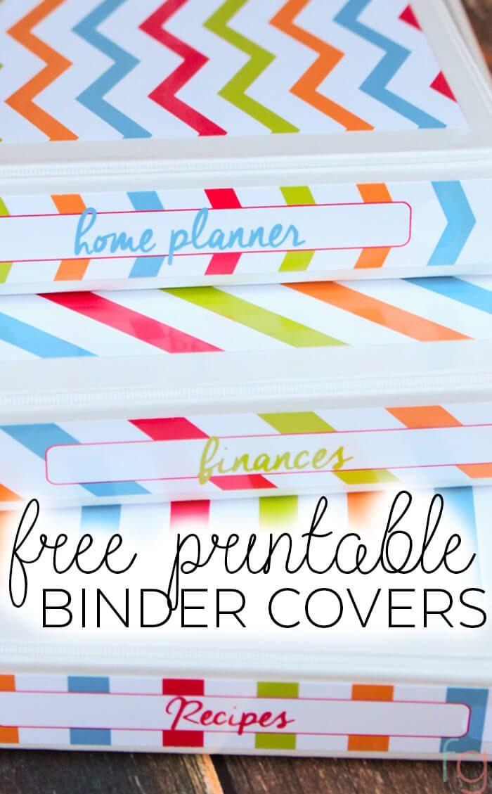 Binder Covers - Free Printable - Printable Binder Spine Inserts Free