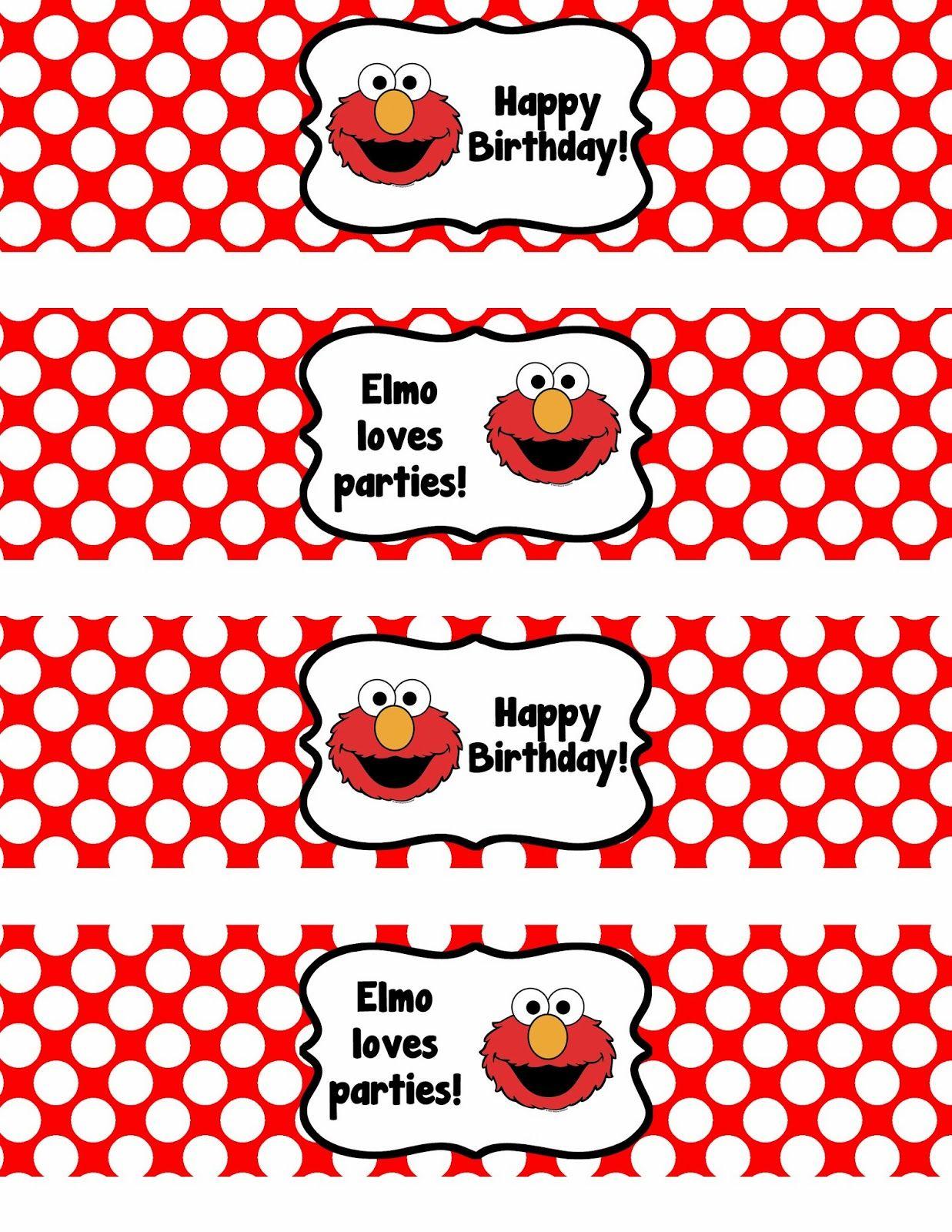 Binge Crafter: Free Printable: Elmo Happy Birthday Water Bottle - Free Printable Water Bottle Labels For Birthday