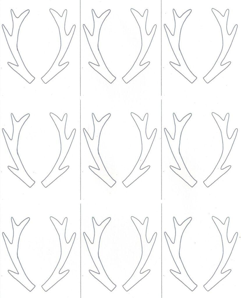Birch Slice Antler Ornaments + Printable | Reindeer | Ornaments - Reindeer Antlers Template Free Printable