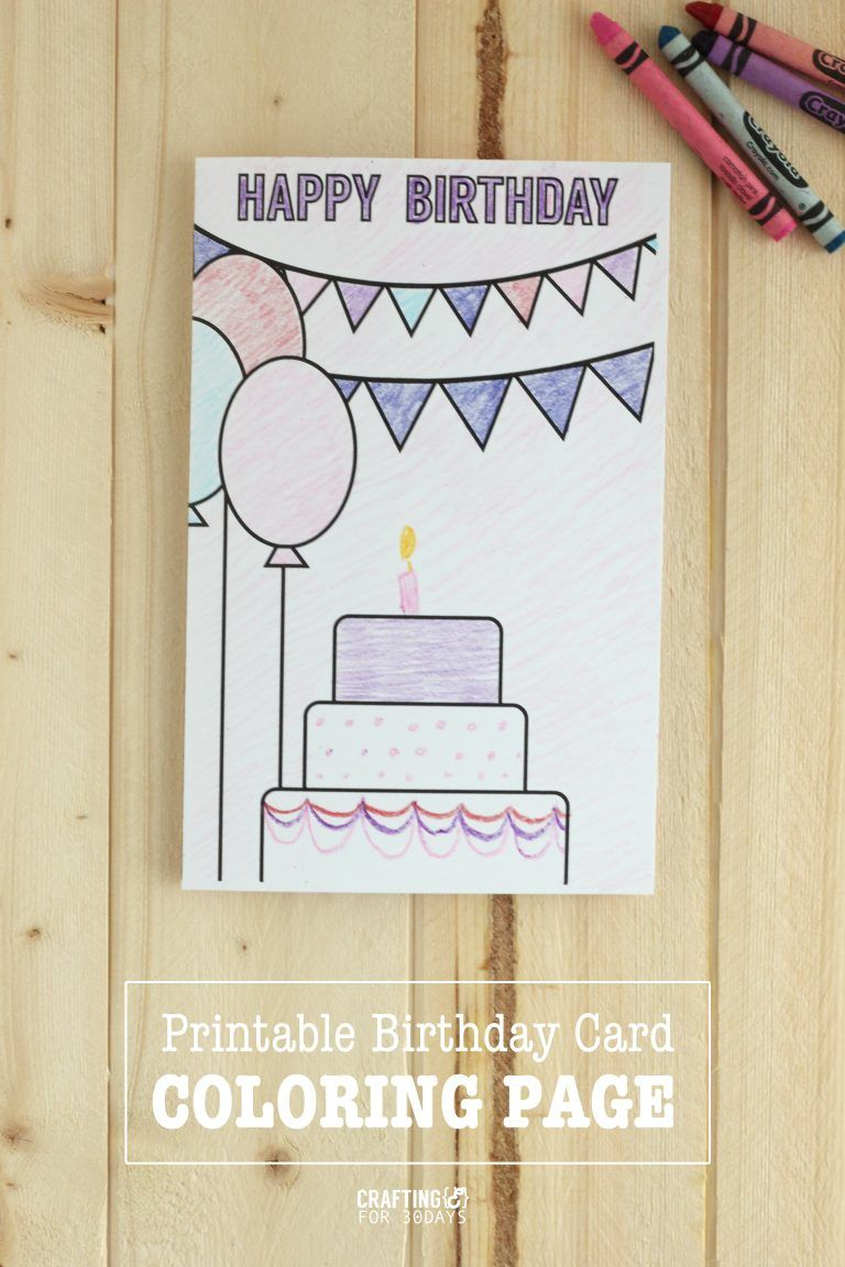 Birthday Coloring Pages   Printables   Pinterest   Coloring Birthday - Free Printable Birthday Cards For Mom