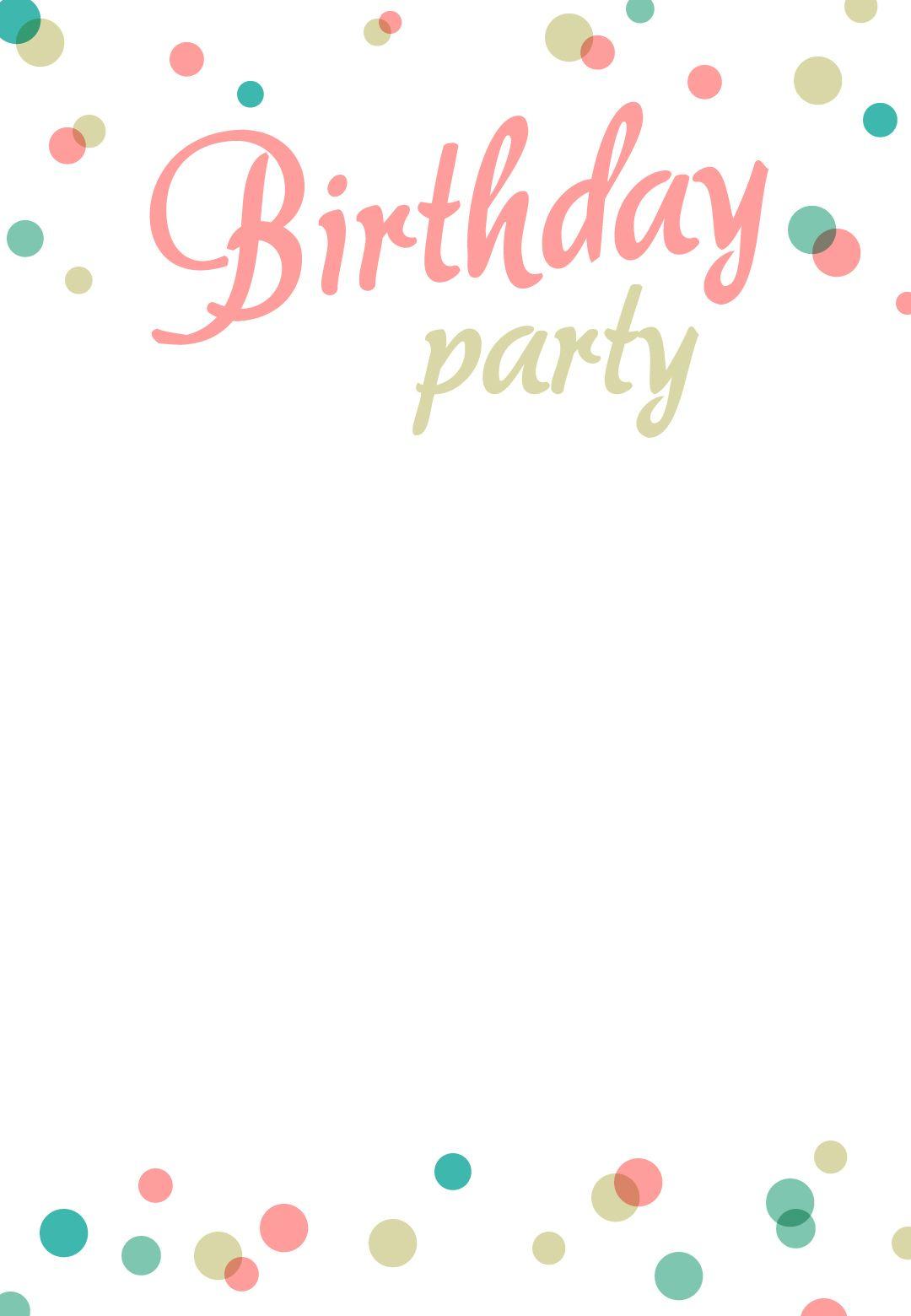 Birthday Party #invitation Free Printable | Party. | Pinterest - Free Printable Birthday Invitations Pinterest