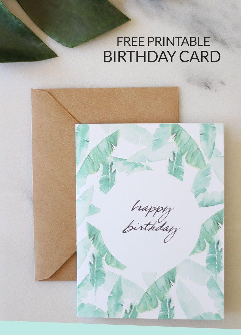 Birthday Wishes: Free Printable Birthday Card | Free Printables - Free Printable Damask Place Cards