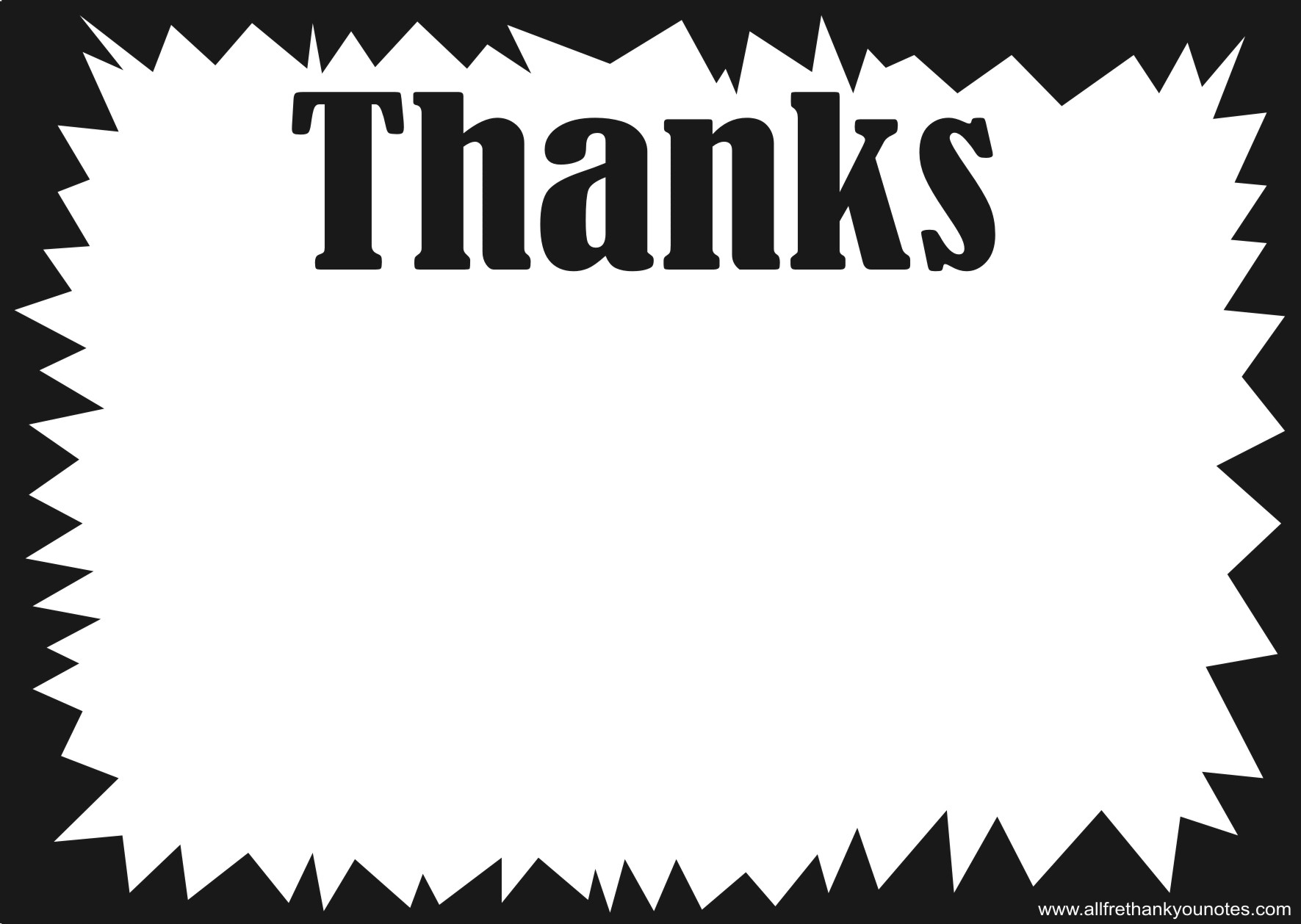 Black And White Thank You Notes Printable - 6.9.hus-Noorderpad.de • - Free Printable Thank You Cards Black And White