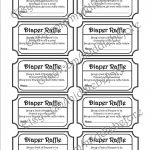Black & White Printable Baby Shower Diaper Raffle Ticket. Via Etsy   Free Printable Diaper Raffle Tickets Black And White