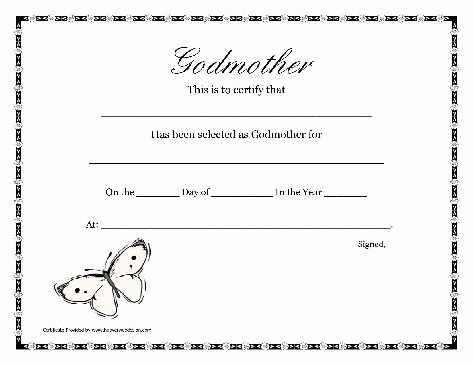 Blank Adoption Certificate Template Elegant Free Printable Godparent - Free Printable Adoption Certificate