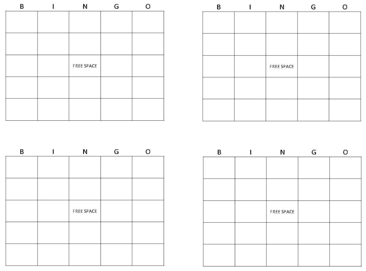 Blank Bingo Cards   Get Blank Bingo Cards Here - Free Printable Blank Bingo Cards