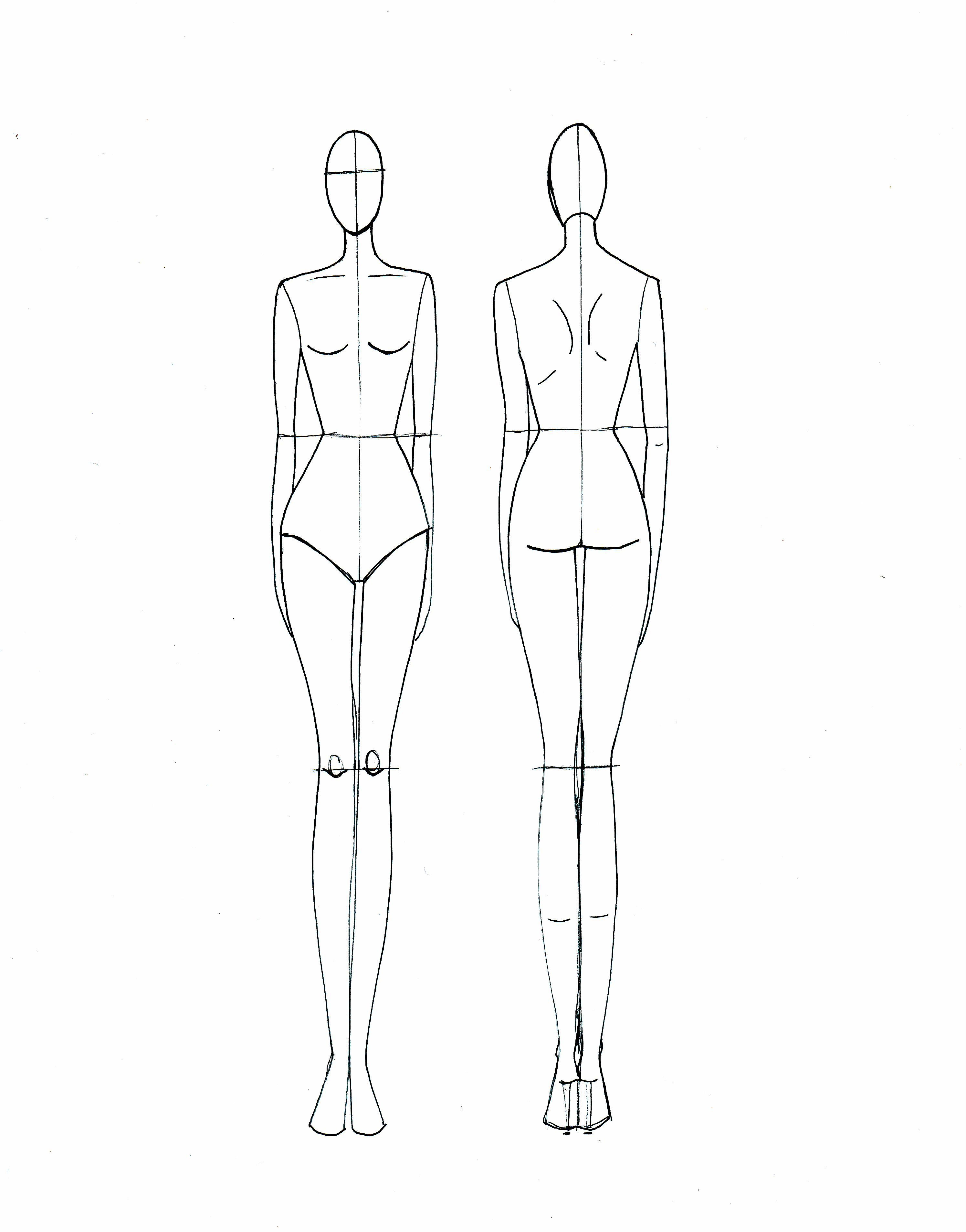 Blank Fashion Design Models | Projects To Try | Fashion Illustration - Free Printable Fashion Model Templates
