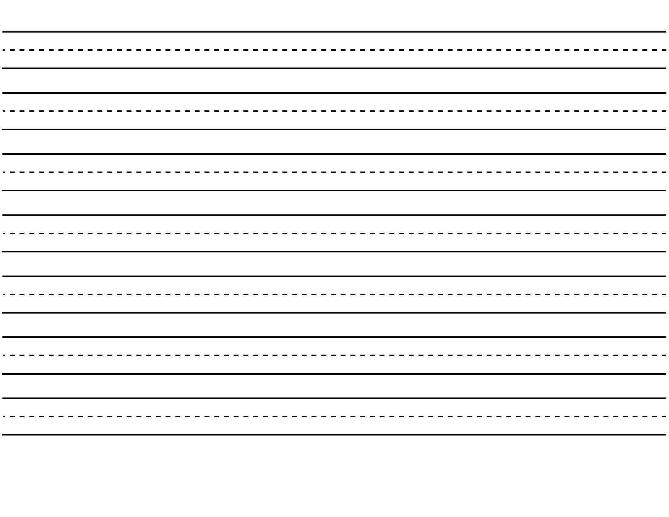 Blank Handwriting Paper Printable Free Lined Writing Template - Blank Handwriting Worksheets Printable Free