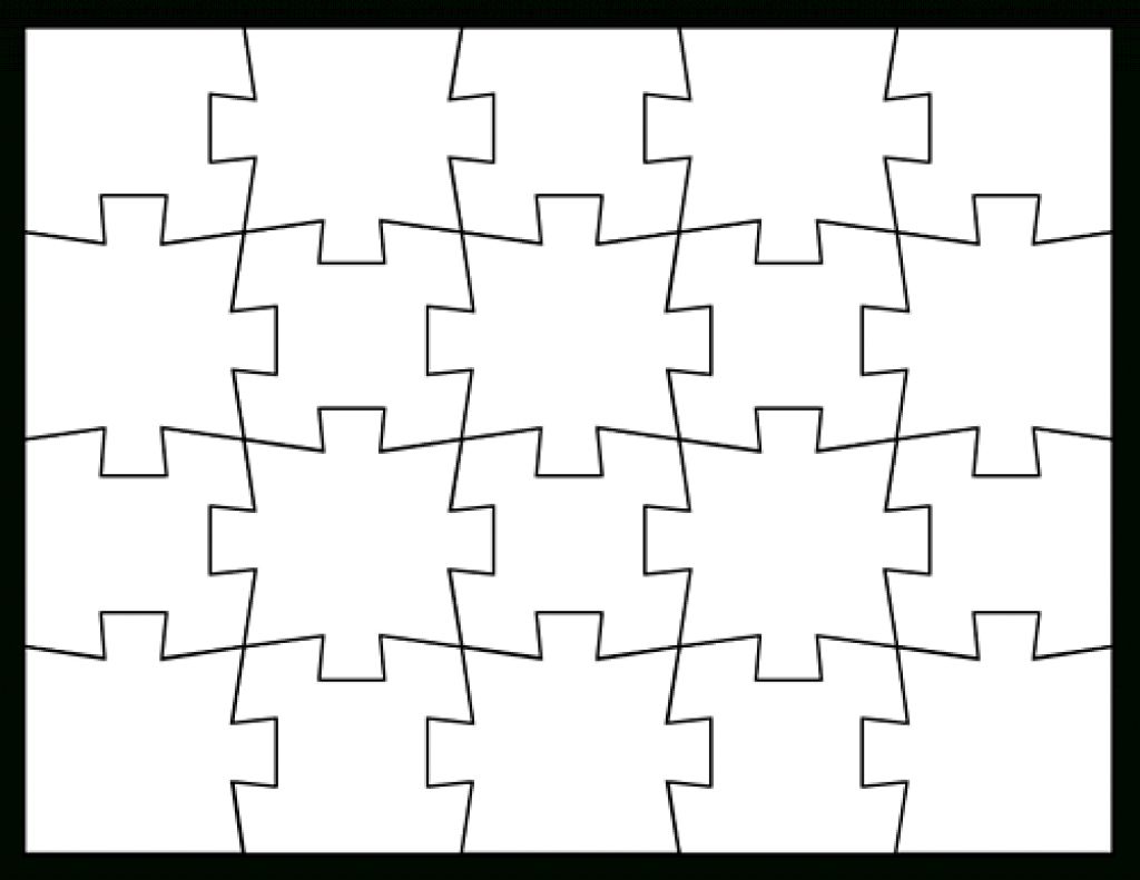 Blank Jigsaw Puzzle Templates | Make Your Own Jigsaw Puzzle For Free - Jigsaw Puzzle Maker Free Printable