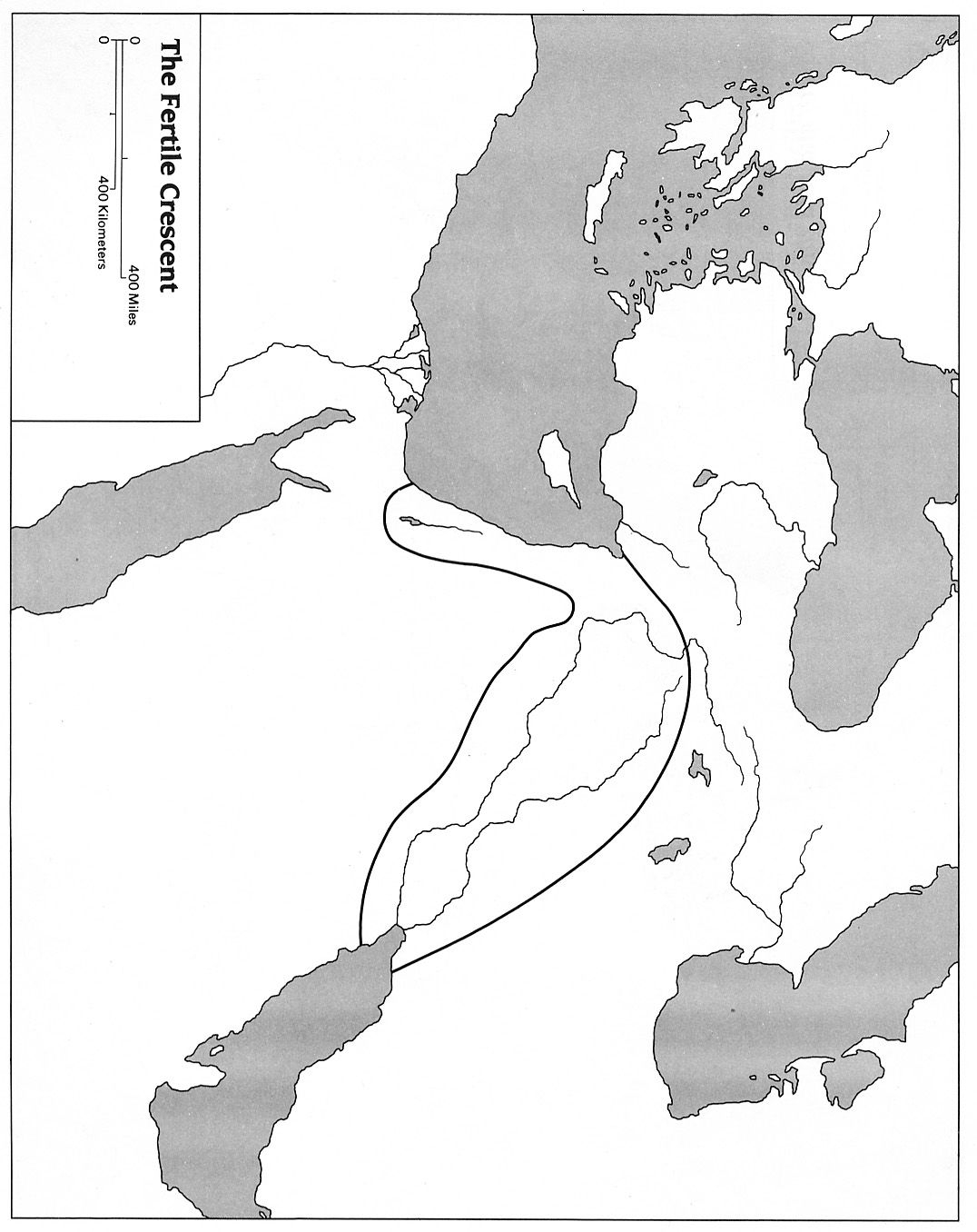 Blank Map Of Mesopotamia For Labeling   Mesopotamia For Kids - Free Printable Map Of Mesopotamia