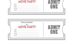Blank Movie Ticket Invitation Template | Escort, Place Cards And – Free Printable Ticket Invitation Templates