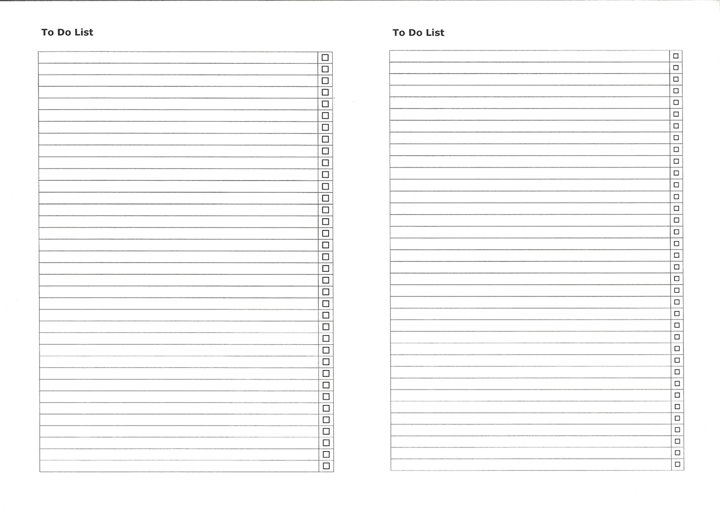 Blank Numbered List Template | List And Format Corner - Free Printable Numbered List