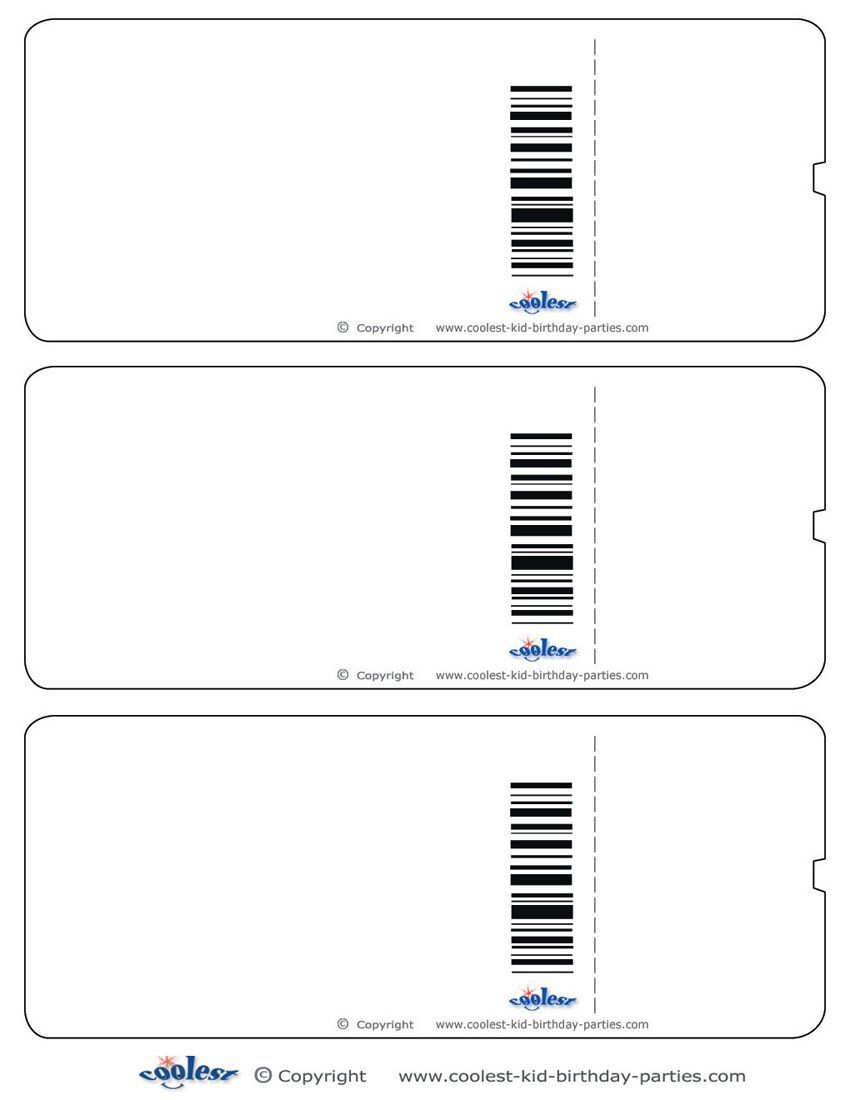 Blank Printable Airplane Boarding Pass Invitations - Coolest Free - Free Printable Ticket Invitation Templates