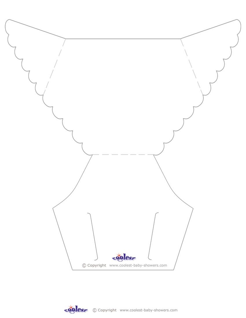 Blank Printable Diaper Invitation - Free Printable Diaper Invitation Template