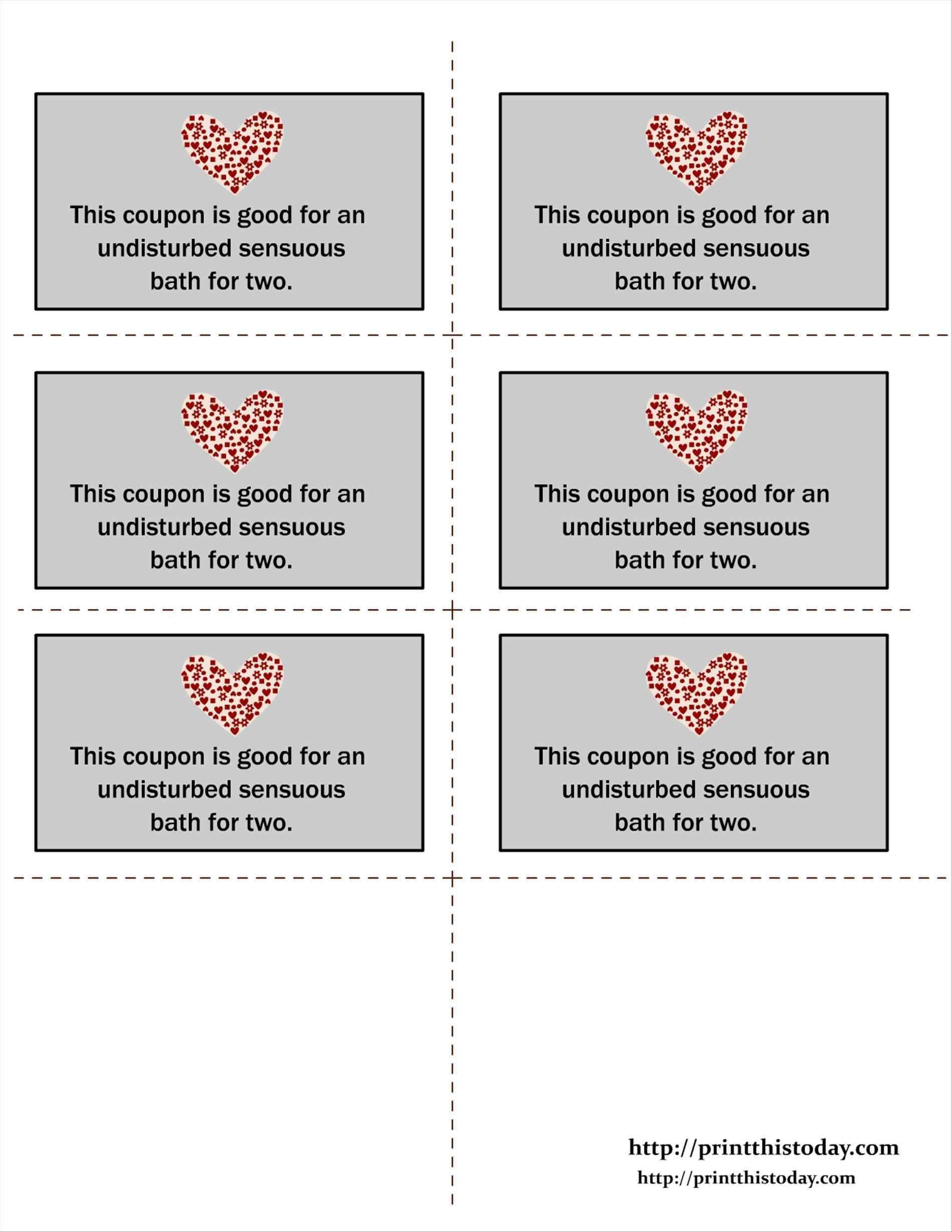 Blank Printable Love Coupons For Him | Chart And Printable World - Free Printable Love Coupons For Wife
