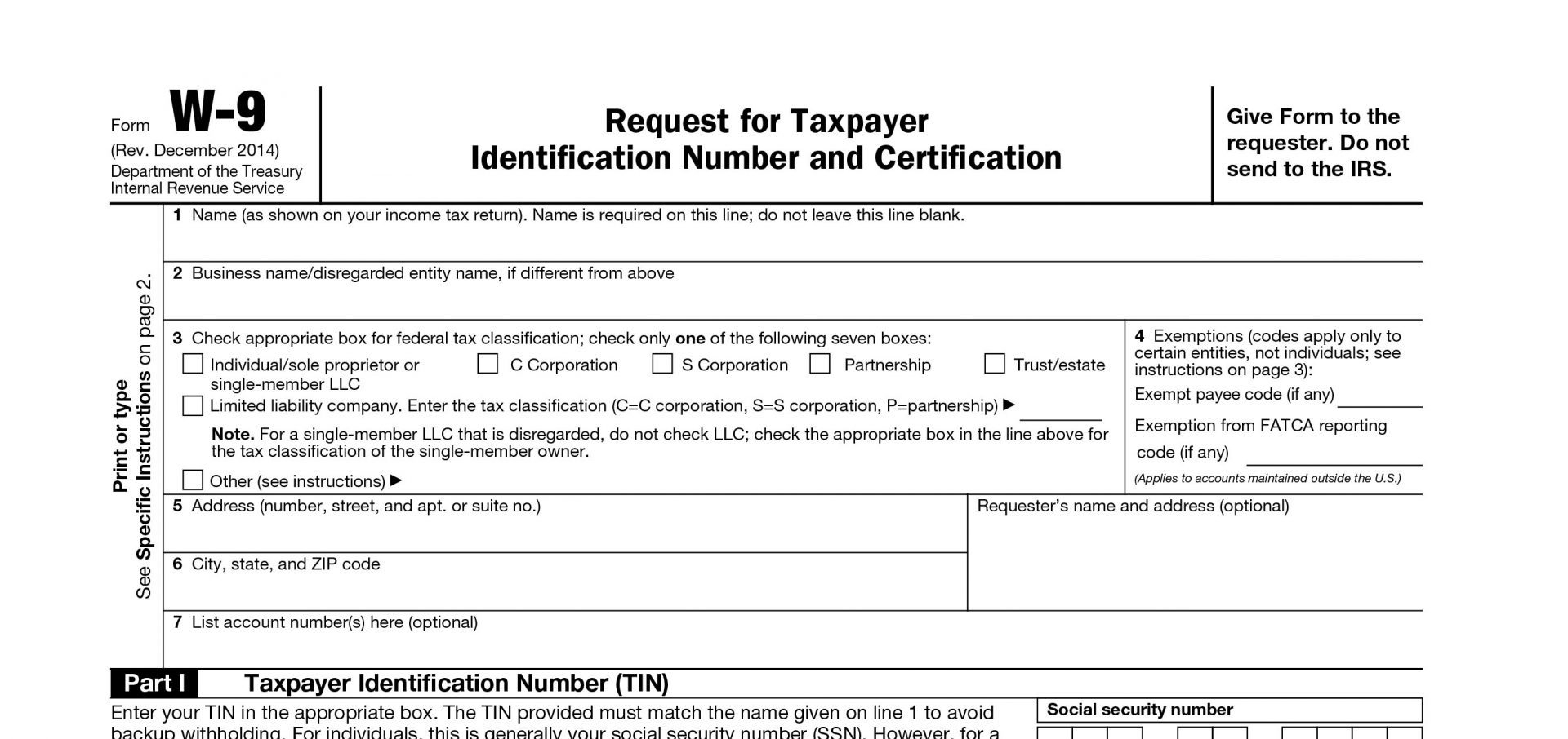 Blank W9 2018 Free W9Form To Print #25841920609 – Printable W 9 Tax - W9 Form Printable 2017 Free