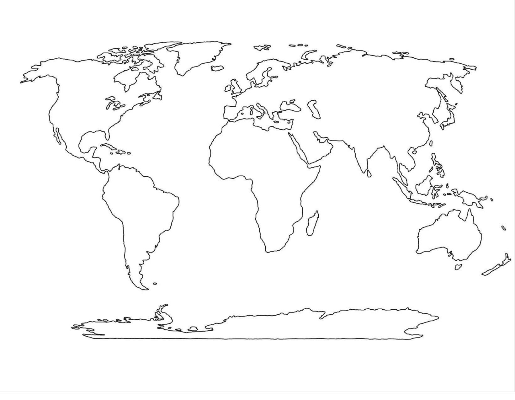Blank World Map Pdf - Free Maps World Collection - Free Printable World Map Pdf
