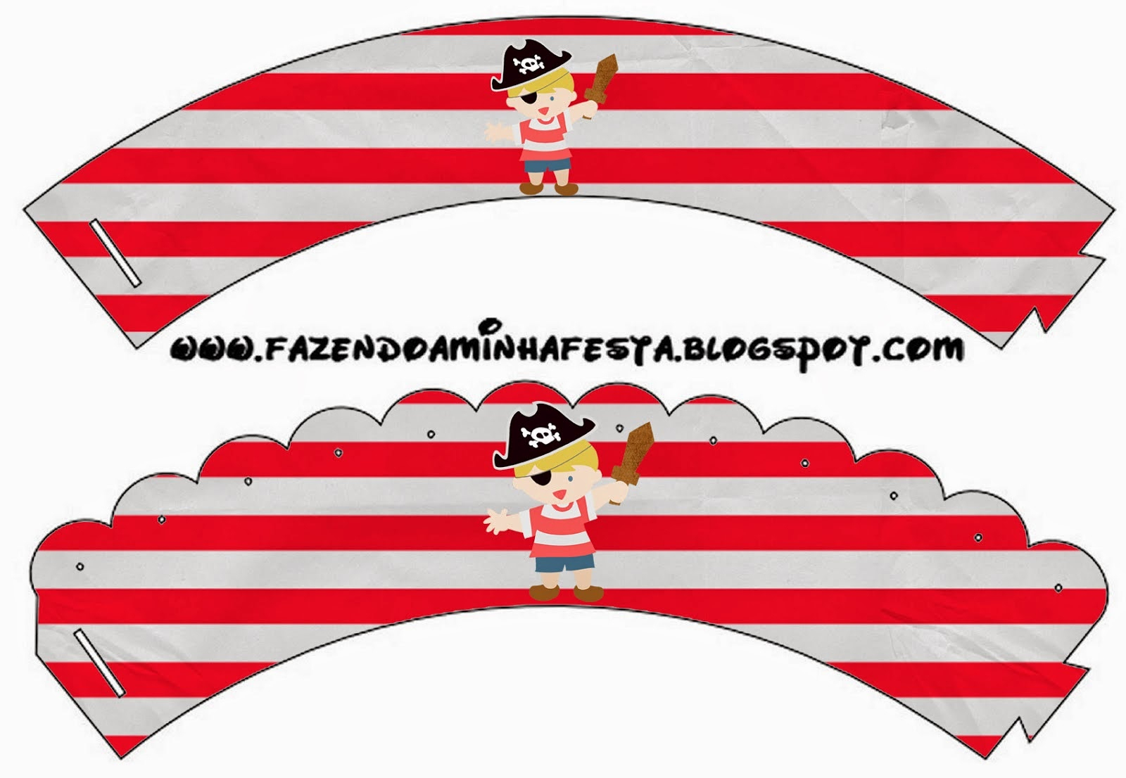 Blondie Little Pirate: Free Party Printables. | Oh My Fiesta! In English - Free Printable Pirate Cupcake Toppers