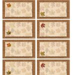 Bnute Productions: Free Printable Autumn Place Cards Perfect For   Free Printable Thanksgiving Place Cards To Color