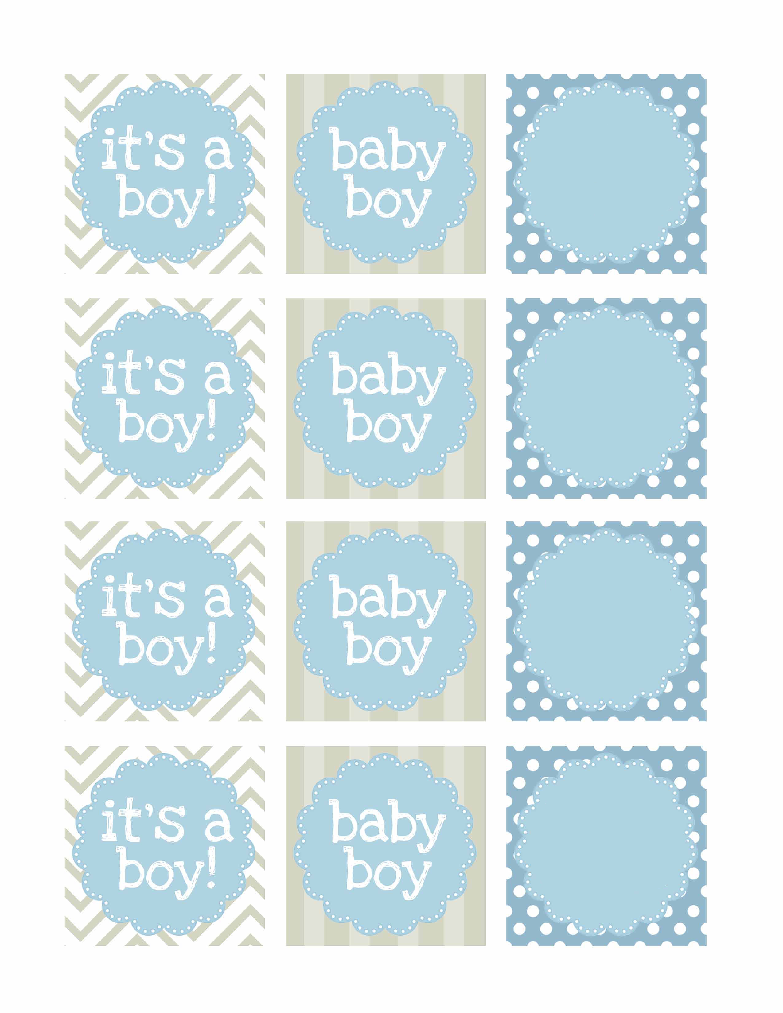 Boy Baby Shower Free Printables - How To Nest For Less™ - Free Printable Baby Shower Gift Tags
