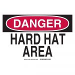 Brady 10 In. X 14 In. Plastic Danger Hard Hat Area Osha Safety Sign   Osha Signs Free Printable