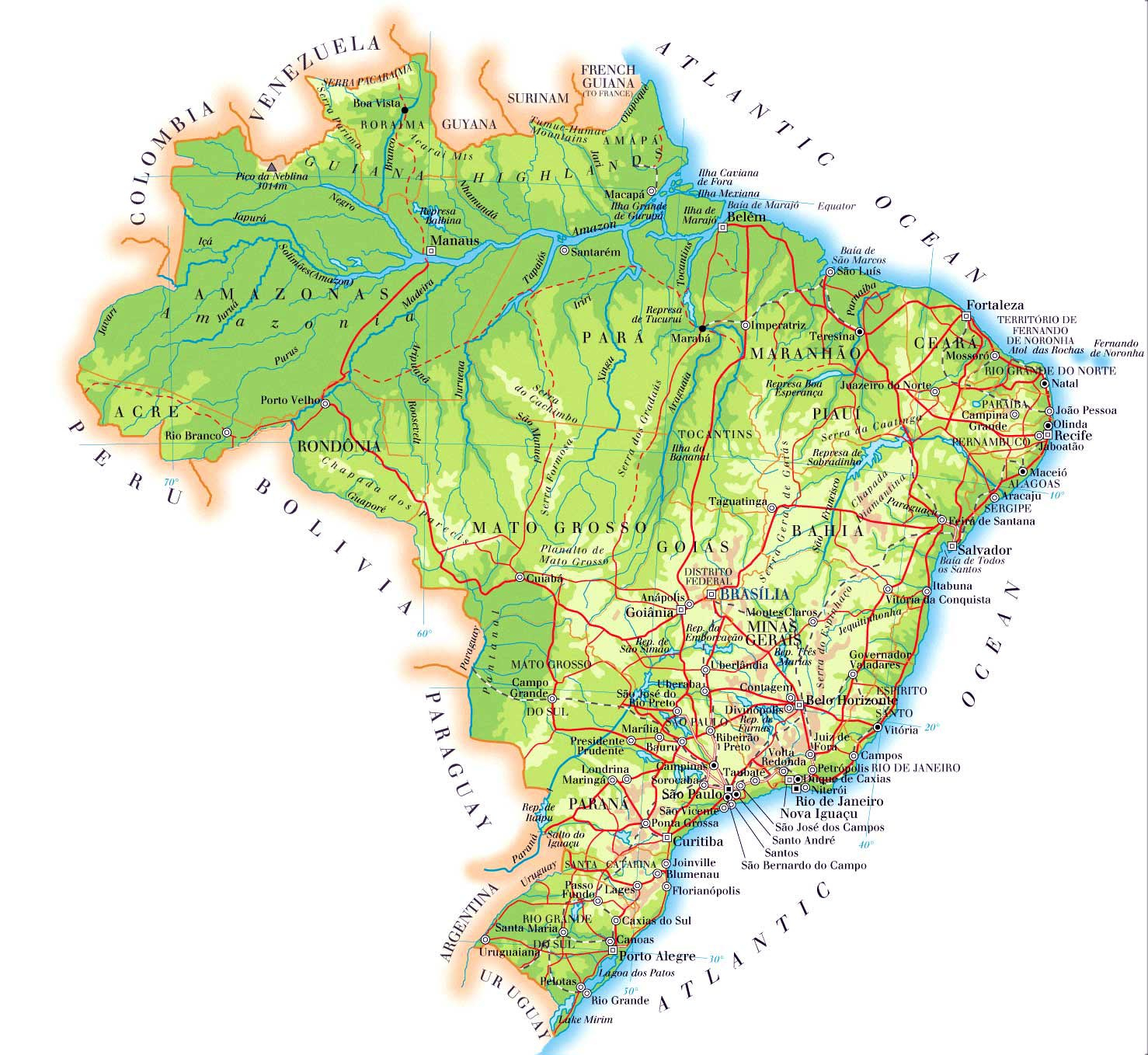 Brazil Map Best Maps Of Printable Map Of Brazil - Tuquyhai - Free Printable Map Of Brazil