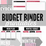 Budget Binder Printables   Single Moms Income   Free Printable Budget Binder Worksheets