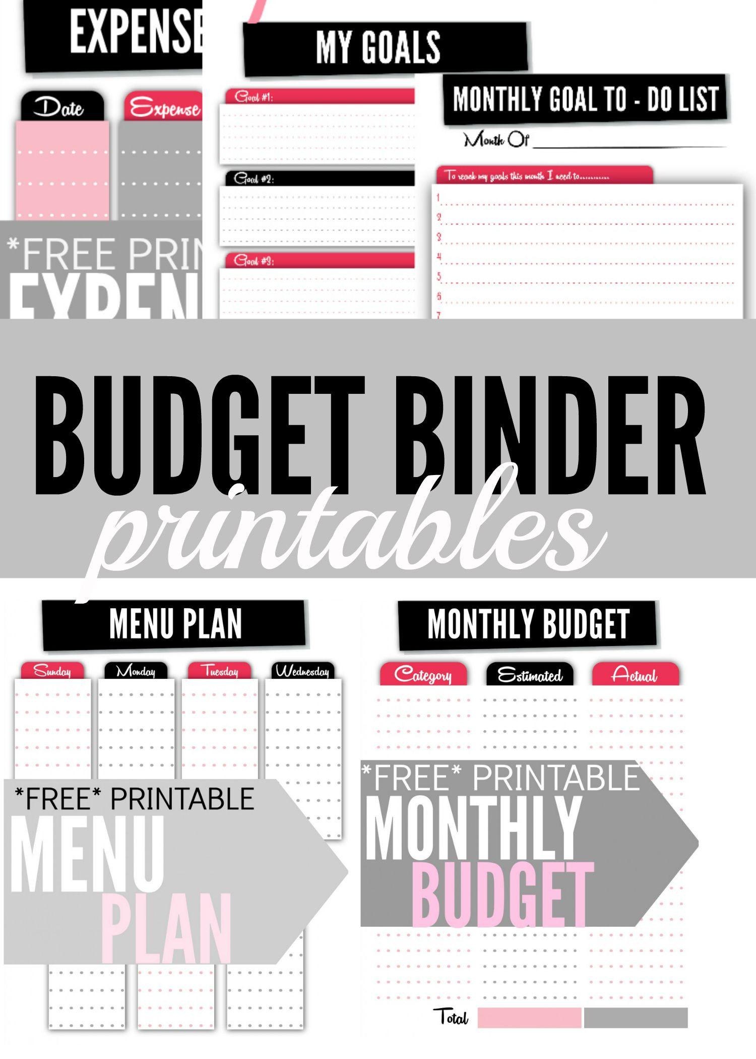 Budget Binder Printables | Thrifty Thursday @ Lwsl | Pinterest - Free Printable Budget Binder