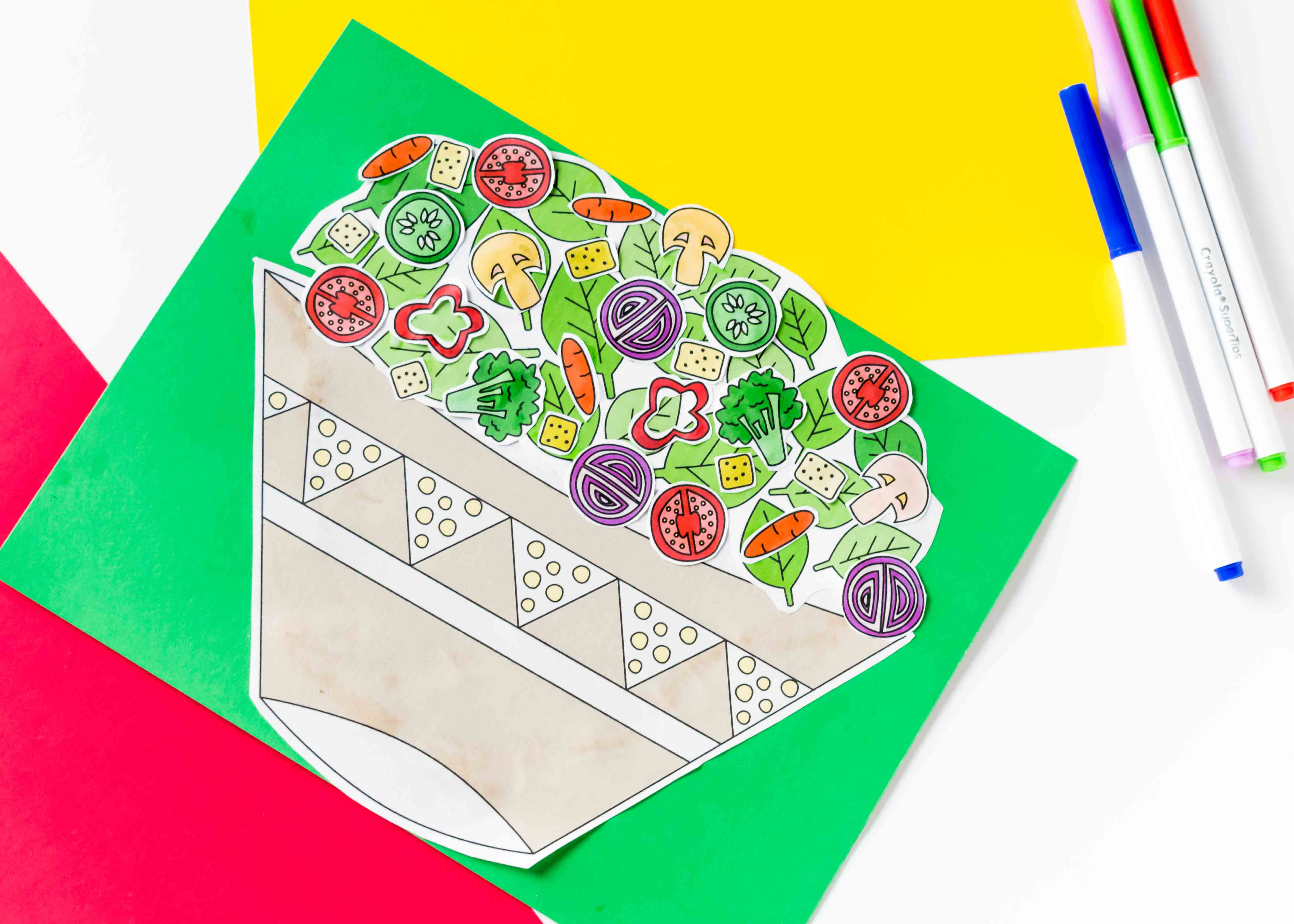 Build A Salad Craft Free Printable ~ Daydream Into Reality - Free Printable Crafts