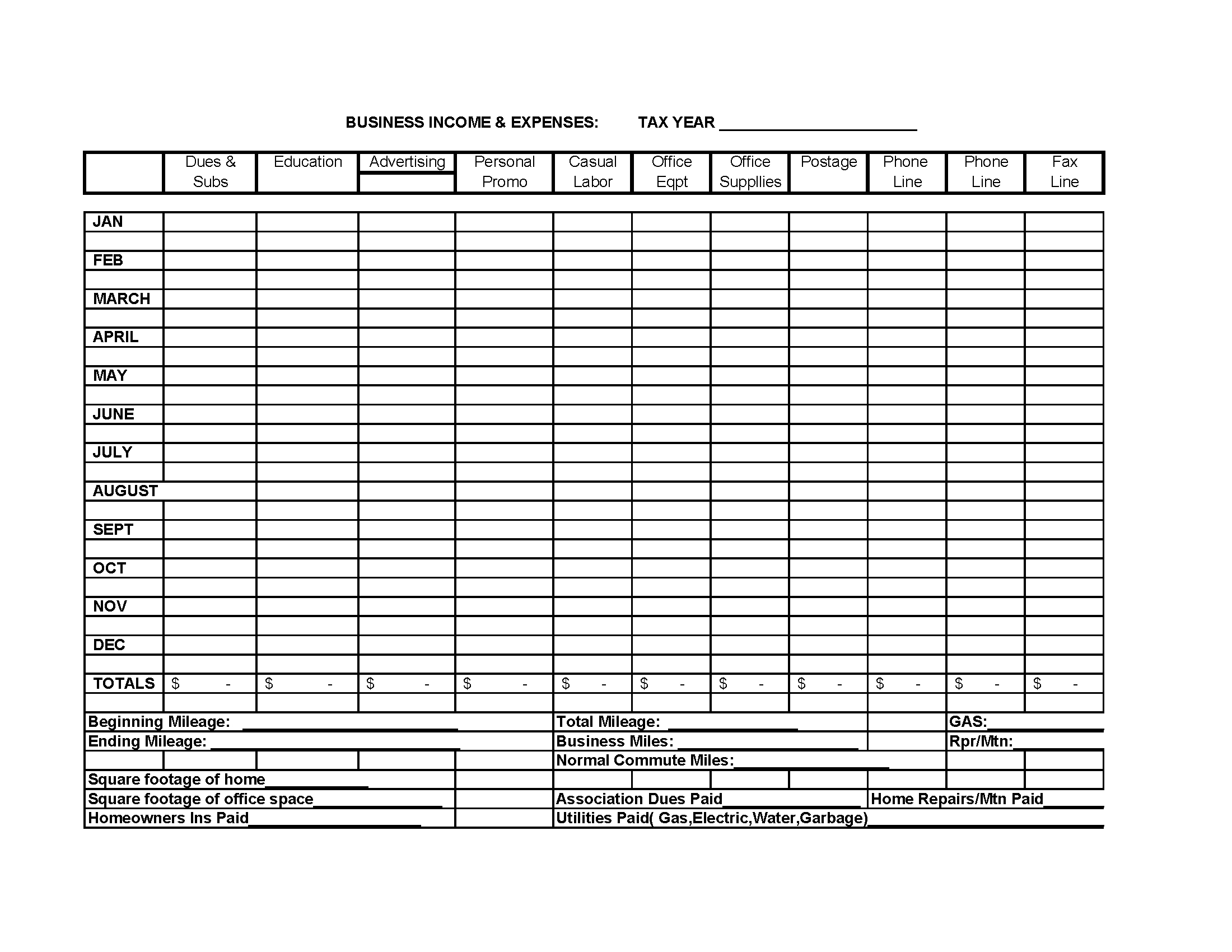 Business Income Expense Spreadsheet Template | Business | Small - Free Printable Income And Expense Form