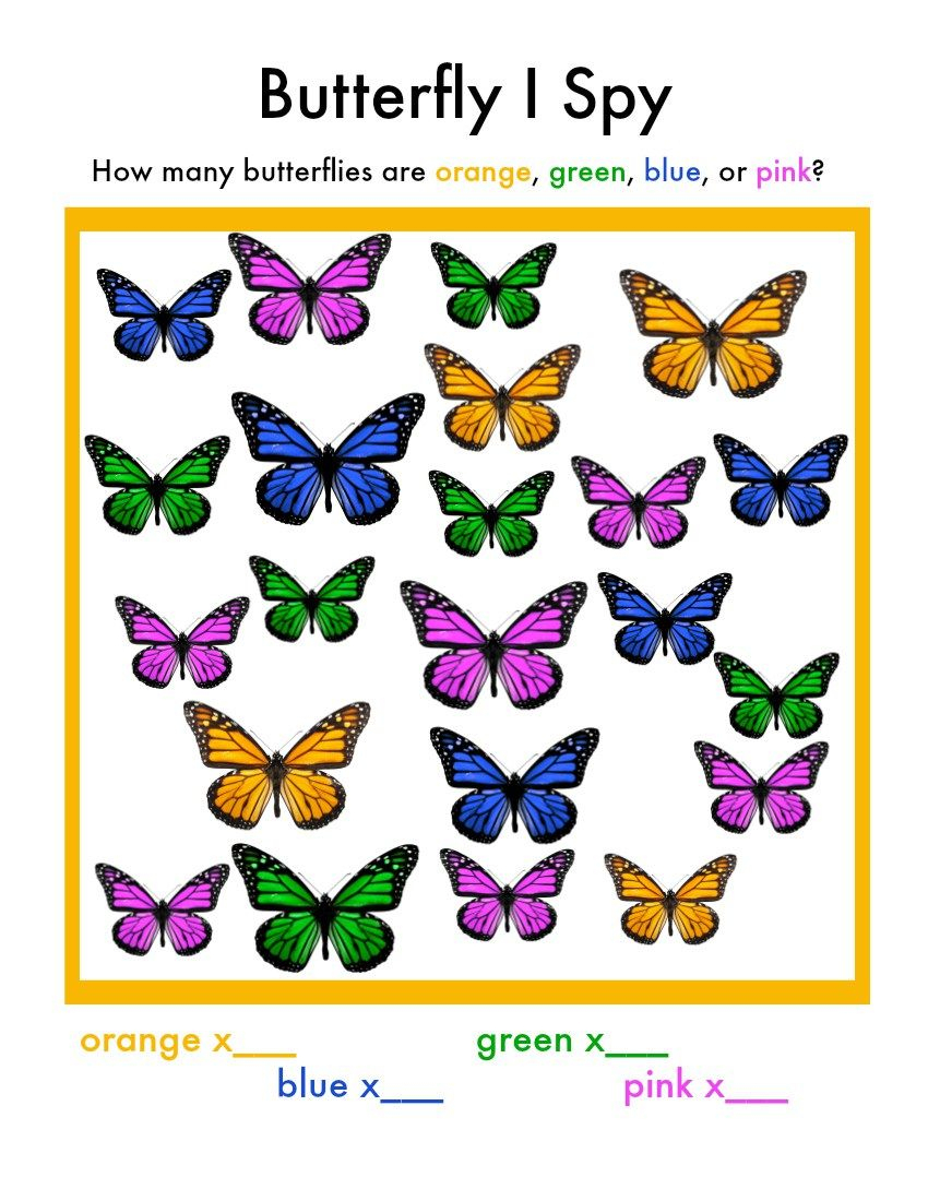 Butterfly I Spy Game | Diy, Crafts, Printables And Recipes - Free Printable I Spy Puzzles