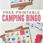 Camping Bingo Free Printable Cards | Free Printables | Camping Bingo   Free Printable Camping Games