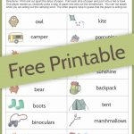 Camping Charades Game For Kids   Free Printable | Camping | Games   Free Printable Camping Games