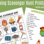 Camping Scavenger Hunt   Printables For Two Age Groups!   Ruffles   Free Printable Scavenger Hunt For Kids