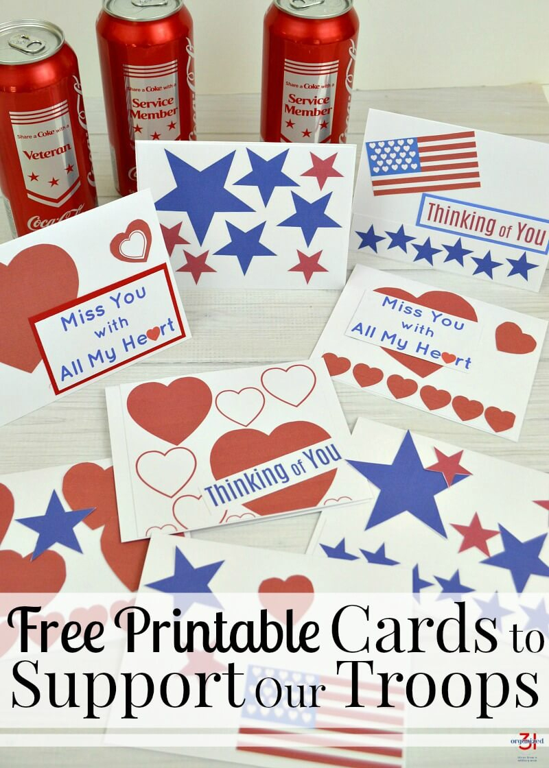 Cards To Support Our Troops - Free Printable - Organized 31 - Free Printable Thank You Cards For Soldiers