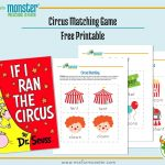 Carnival Week Free Printable   M Is For Monster   Free Printable Toddler Matching Games