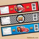 Cars Bottle Labels Free Printable Disney Cars Lightning Mcqueen   Free Printable Disney Cars Water Bottle Labels