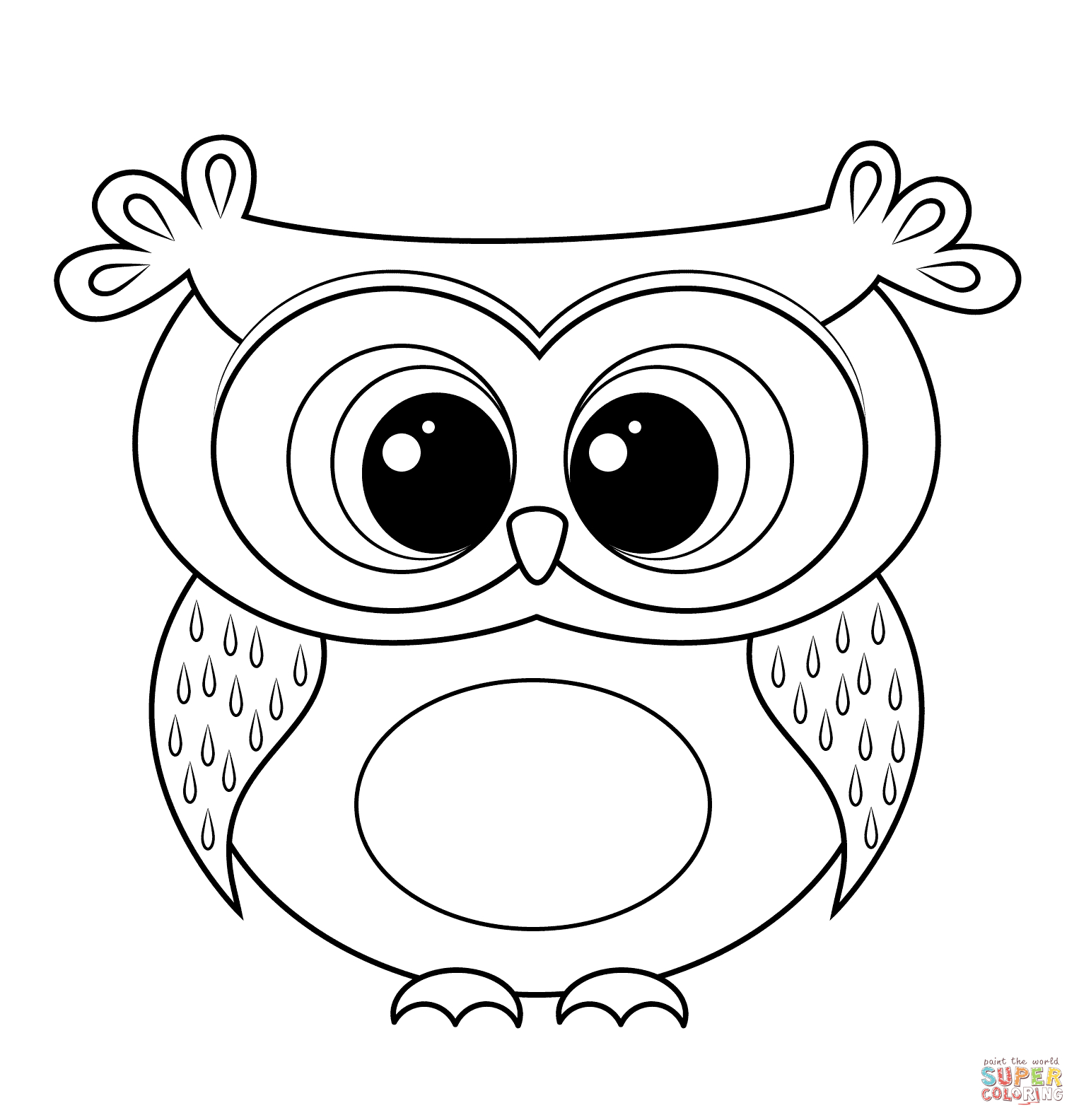 Cartoon Owl Coloring Page | Free Printable Coloring Pages - Free Printable Owl Coloring Sheets