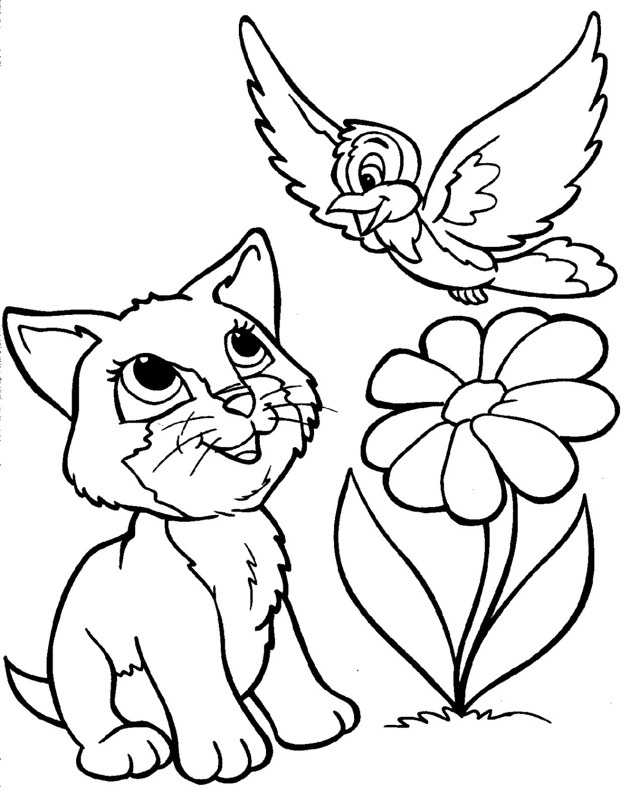 Cat In The Hat Coloring Pages Free Printable   Animal Coloring - Free Printable Animal Coloring Pages