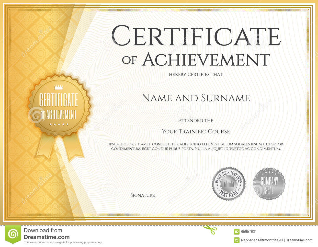 Certificate Of Award Template Word Free With Achievement Templates - Free Printable Certificates Of Accomplishment