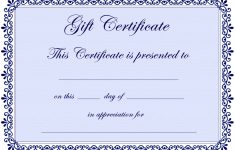 Certificate Templates | Gift Certificate Template Free – Pdf – Free Printable Tattoo Gift Certificates
