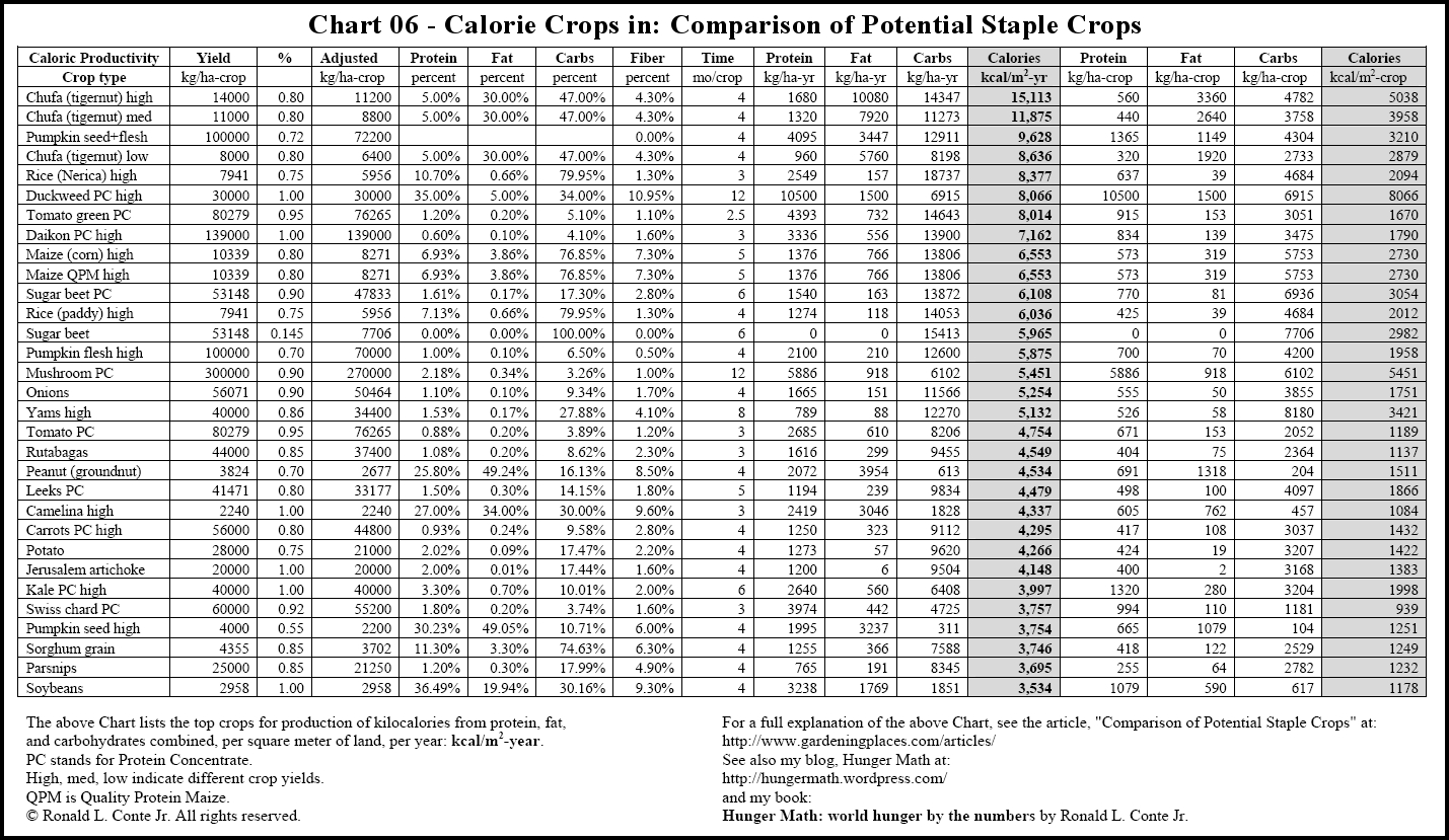 Chart: Food Calorie Chart - Free Printable Calorie Chart